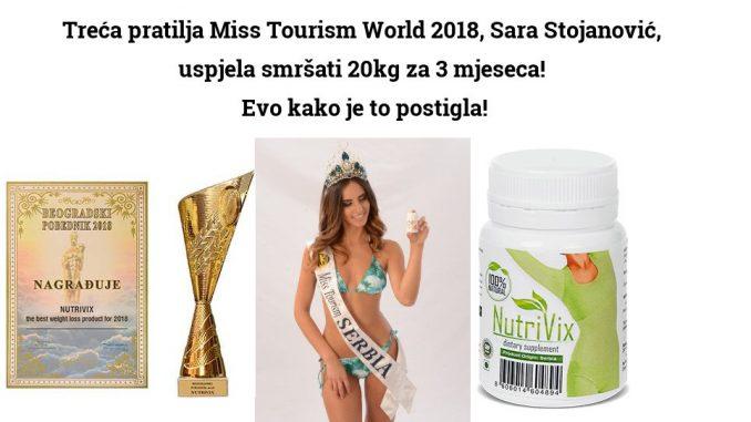 Treća pratilja Miss Tourism World 2018, Sara Stojanović, uspjela smršati 20kg za 3 mjeseca!